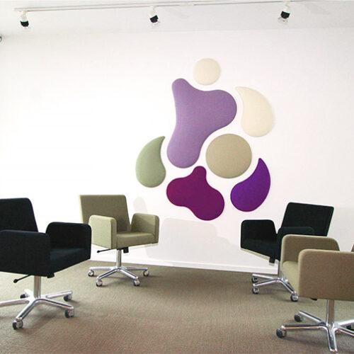 Creative shape acoustic panels