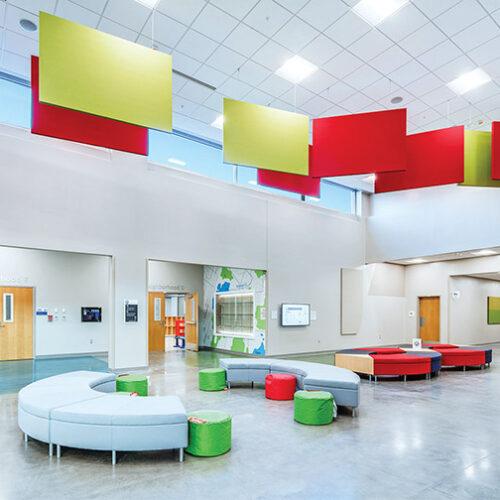 Echo reducing ceiling panels