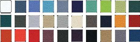 Echo reduction panel fabric colours