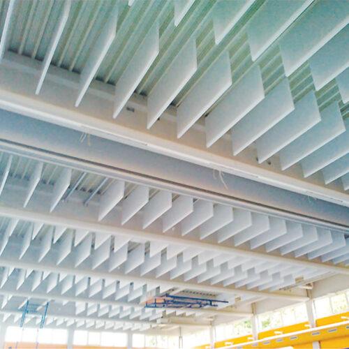 Reverberation reducing panels
